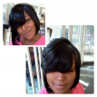 feather bobcut with weave